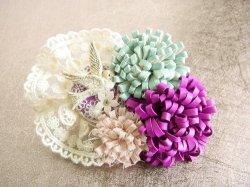 画像1: コサージュ 「romantic lace」