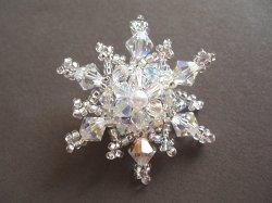 画像1: 雪の結晶の帯留め