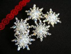 画像2: 雪の結晶の帯留め