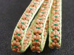 画像1: ぷっくりお花の三分紐