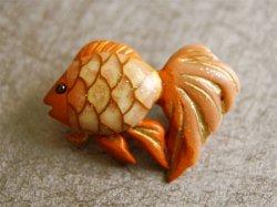 画像1: 金魚の帯留め