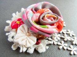 画像2: 薔薇のコサージュ