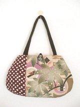 和布つなぎのバッグ