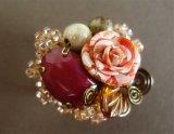 帯留 「beads bouquet」mini