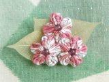 ふんわりお花の帯留ブローチ
