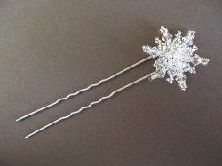 画像1: 雪の結晶のかんざし