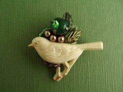 画像1: 小鳥のブローチ