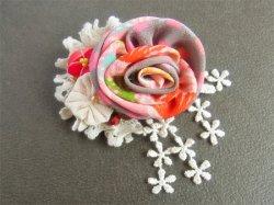 画像1: 薔薇のコサージュ